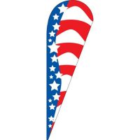American Glory Teardrop Flag