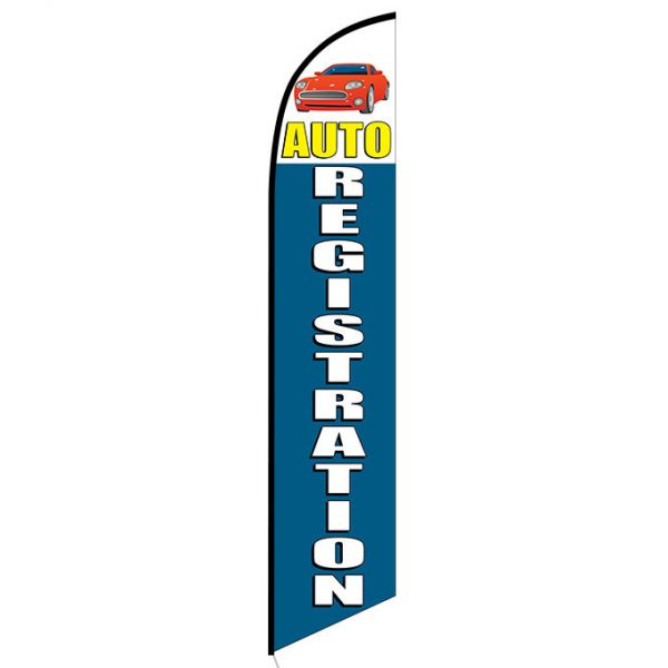 Auto Registration Banner Flag