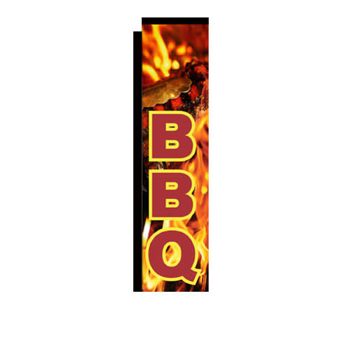 BBQ Rectangle Banner Flag