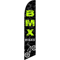 BMX Bikes Feather Flag Kit with Ground Stake