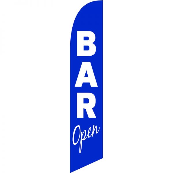 Bar Open Blue Feather Flag