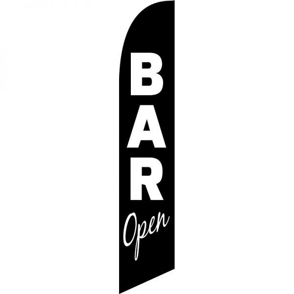 Bar Open Feather Flag