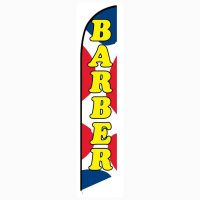 Barber Shop feather flag