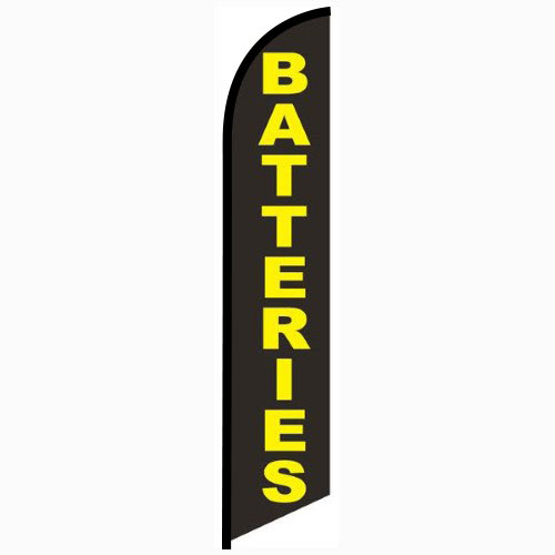 Batteries feather flag