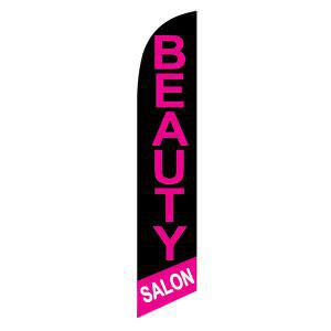 Beauty Salon black feather flag to use outside your awesome salon