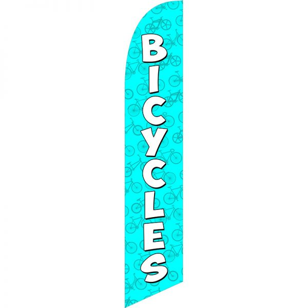 Bicycles Blue Feather Flag