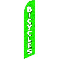 Bicycles Green Feather Flag Kit with Ground Stake