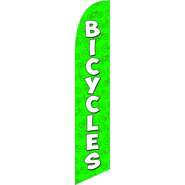 Bicycles Green Feather Flag