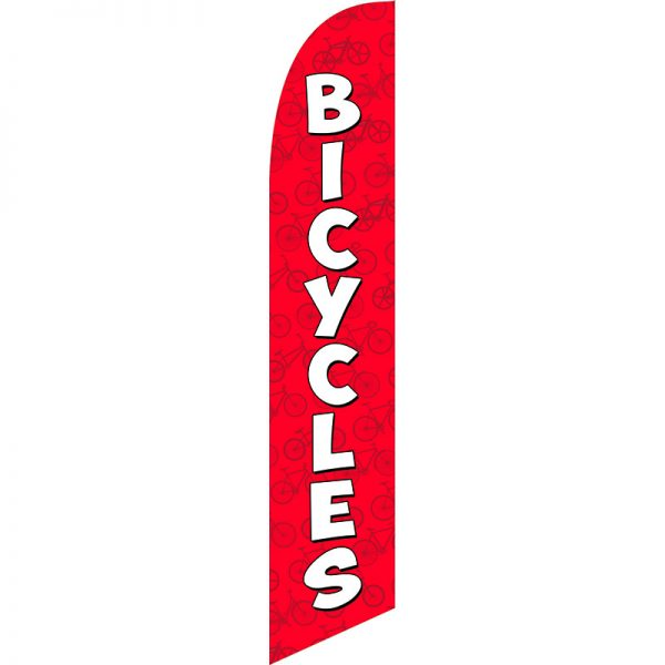 Bicycles Red Feather Flag