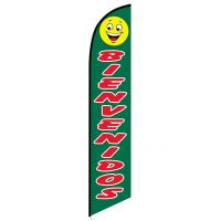 Bienvenidos swooper flag