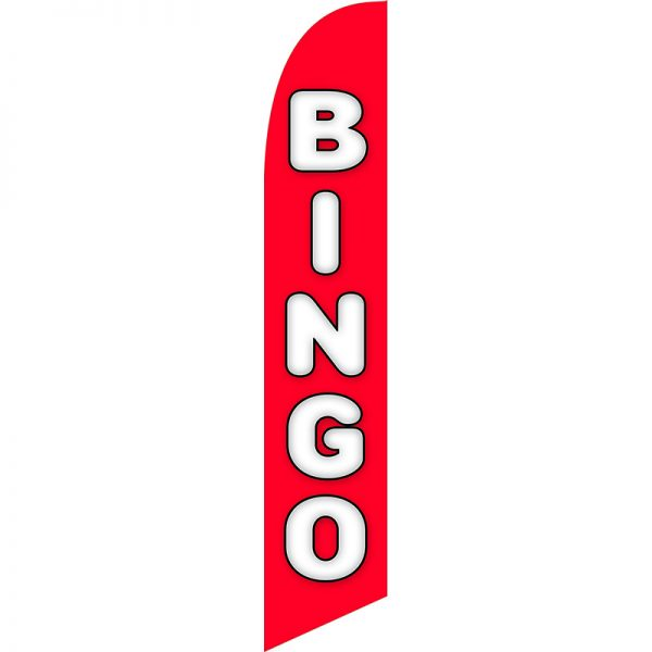 Bingo Red Feather Flag