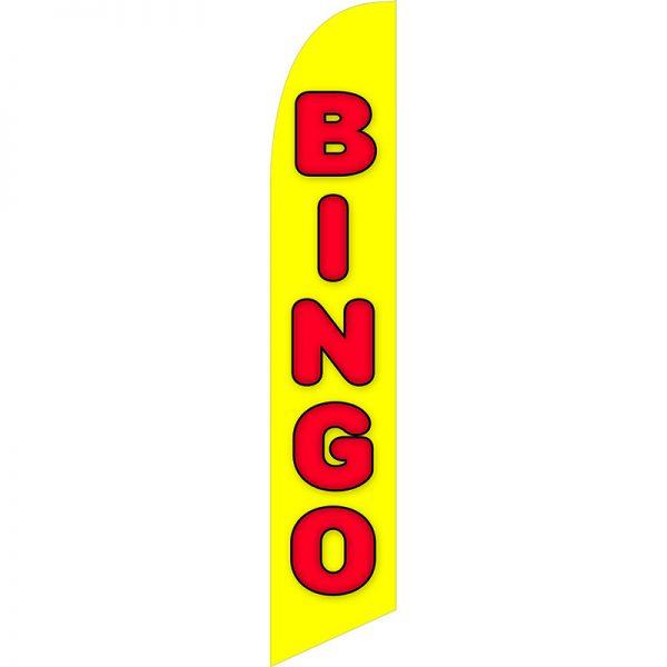 Bingo Yellow Feather Flag
