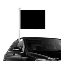 Solid Black Window Clip-on Flag