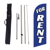 For Rent blue Feather Flag Kit w/ Ground Stake and Travel Bag