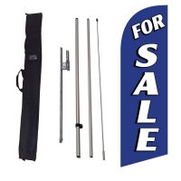 For Sale blue Feather Flag Kit w/ Ground Stake and Travel Bag