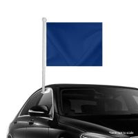 Solid Dark Blue Window Clip-on Flag