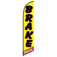 Brake Special Yellow and Red Feather Flag