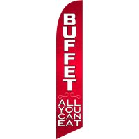 Buffet All You Can Eat Feather Flag
