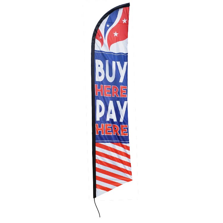 Buy Here: Buy Here Pay Here Feather Flag FFN-5848