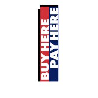 Buy Here Pay Here Rectangle Banner Flag