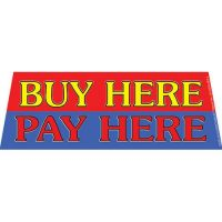 Buy Here Pay Here windshield banner