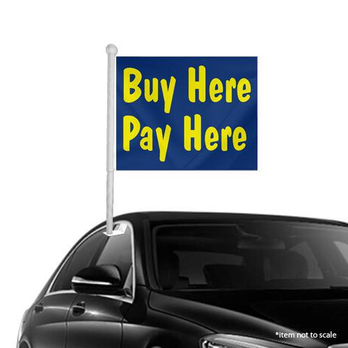 Buy Here Pay Here Window Clip on Flags