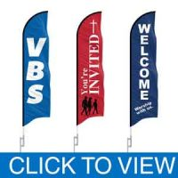 Church Feather Flags in Stock