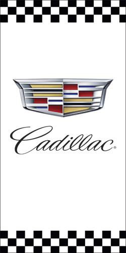 Sample Cadillac auto dealership light pole banner design