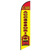 Car Accessories Yellow and Red Feather Flag