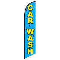 Car wash bubbles feather flag