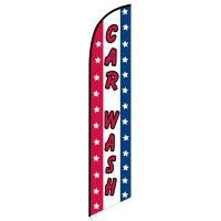 Car wash patriotic feather flag