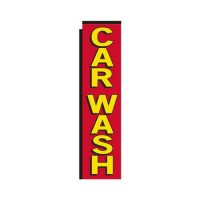 red Car Wash rectangle flag