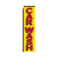 yellow Car Wash rectangle flag