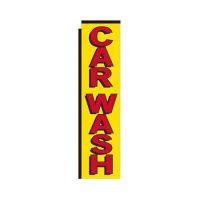 yellow Car Wash rectangle flag