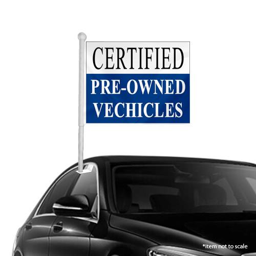 Certified Pre owned Window Clip on Flags