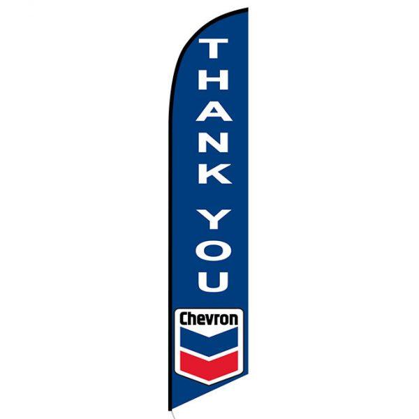 Chevron Thank You feather flag