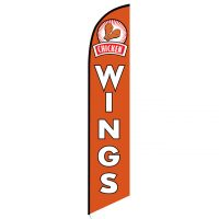 Chicken Wings Feather Flag