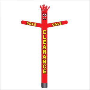 Red clearance sale air dancer inflatable tube man.