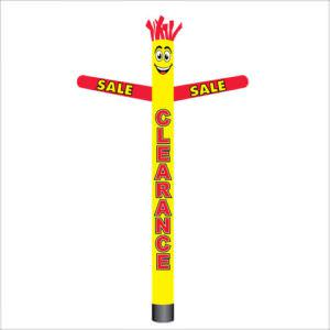Yellow and red clearance sale air dancer inflatable tube man.