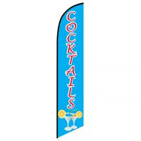 Cocktails Feather Flag