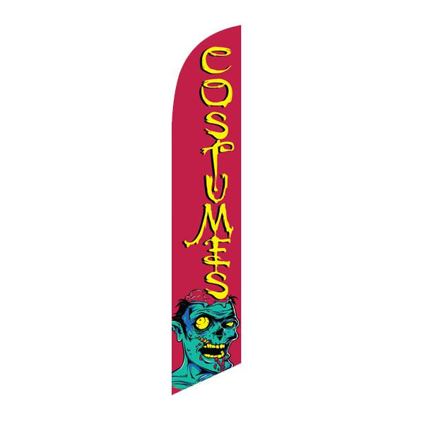 Costumes feather flag outdoor advertising banner for your shop