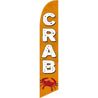 Crab Feather Flag Kit with Ground Stake