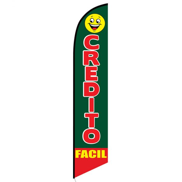 Credito Facil feather flag