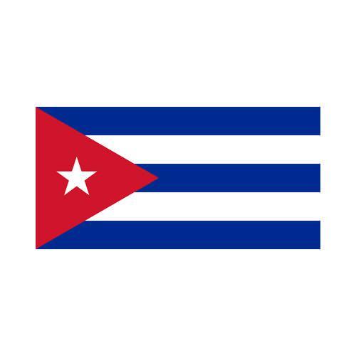 Cuba 3x5 Flag