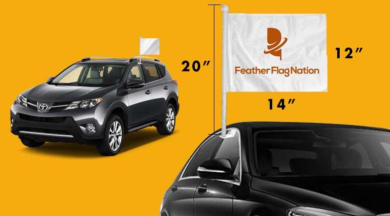 Car Flags Stock And Custom Orders Featherflagnation Com