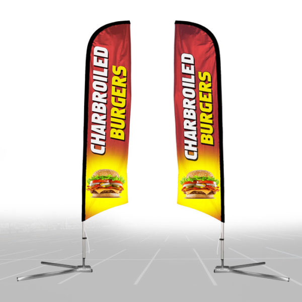 Custom-Feather-Flag-15ft-Kit-with-Car_wheel-Base-Double-Sided