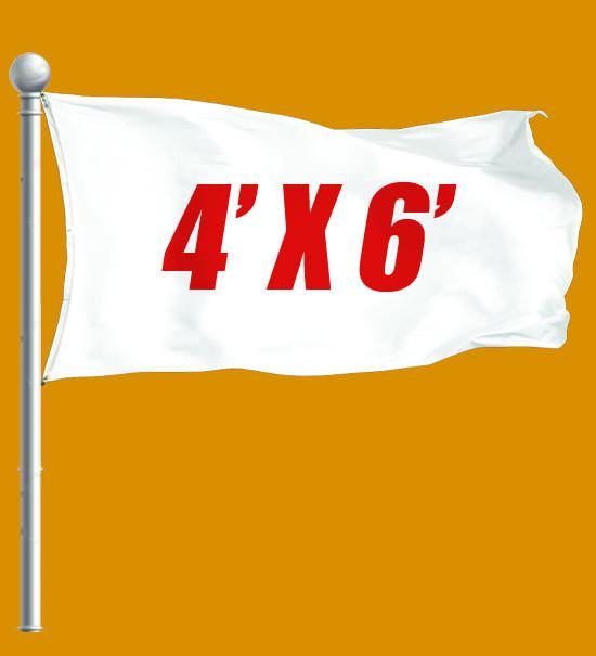 Custom Flag 4x6 - Great flag for outdoor use.