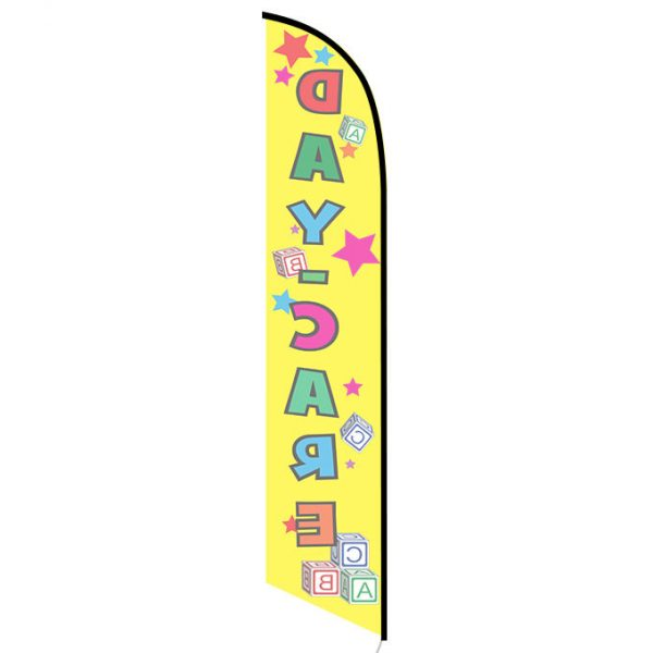 Daycare yellow feather flag