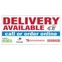 Delivery Available Vinyl Banner