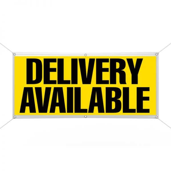 Delivery Available (Yellow) Banner